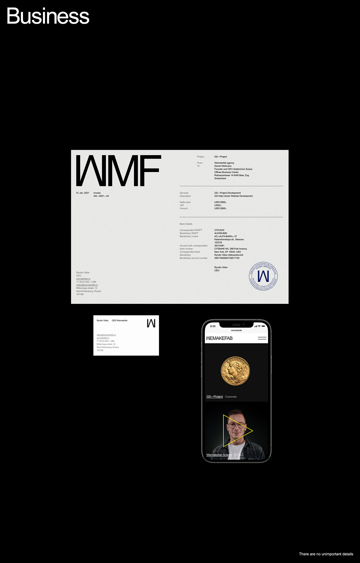 agency development minimal portfolio studio UI ux Web Webdesign Website