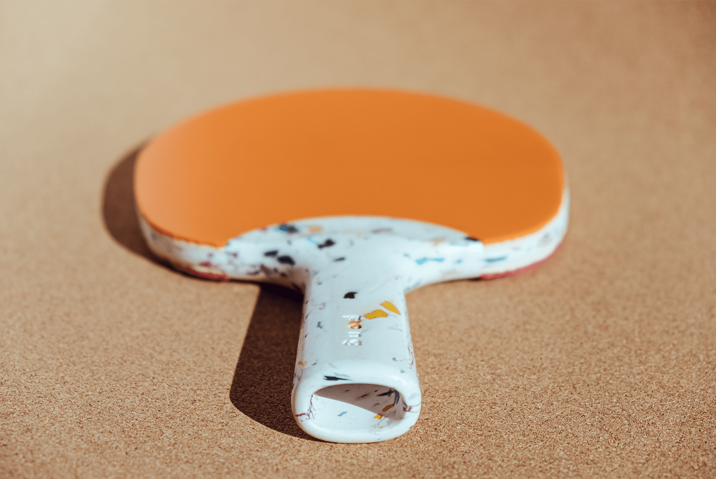 Recycled table tennis paddle