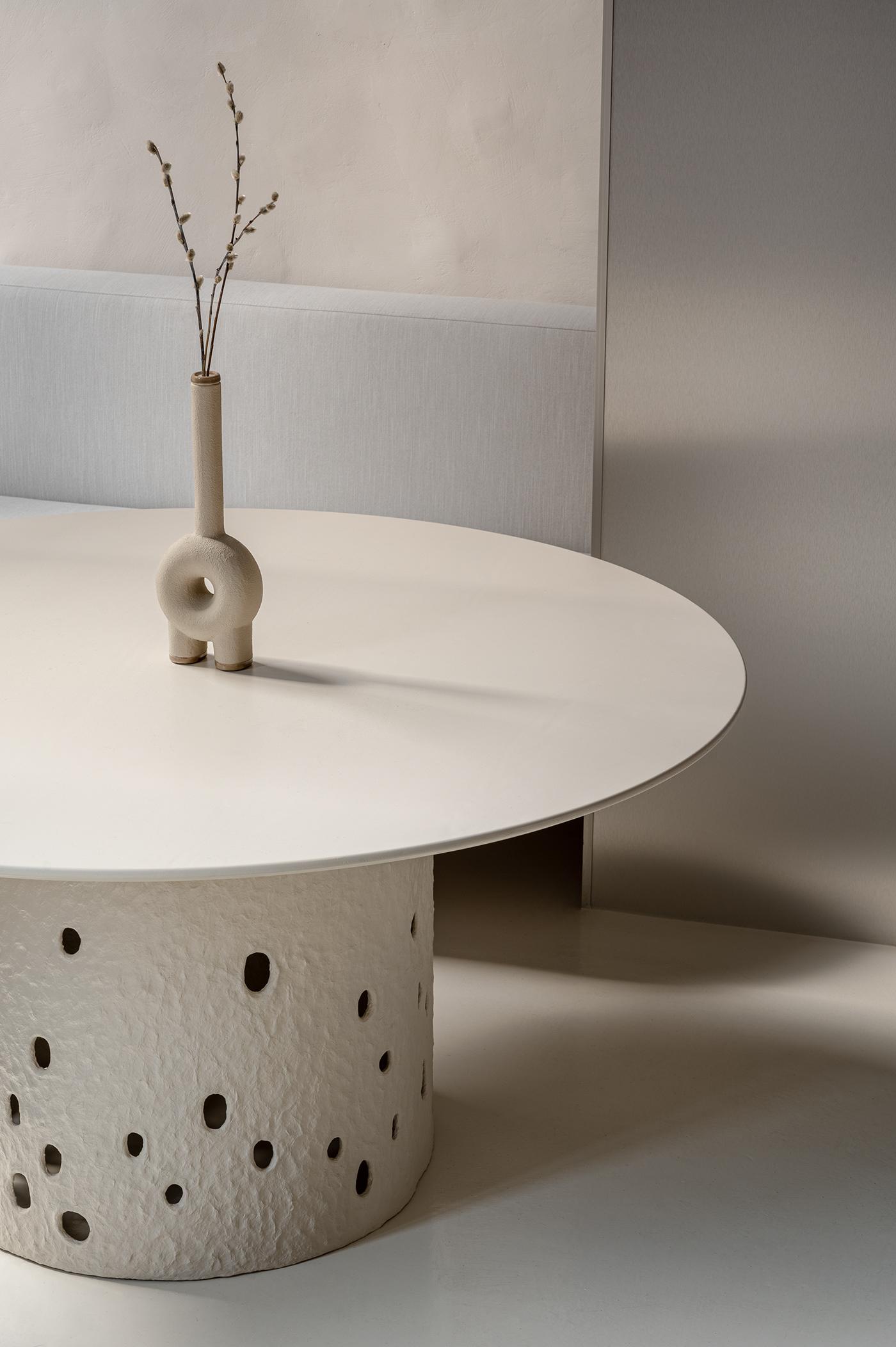 clay design Ethno Faina   Interior light minimal rough soft stone