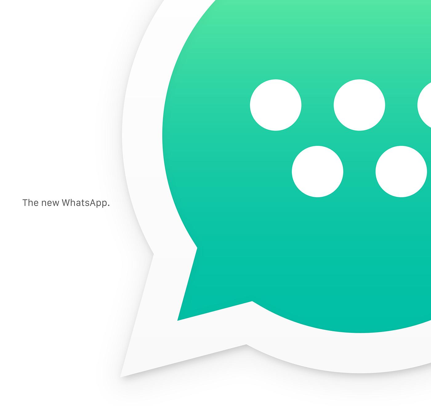 rebranding WhatsApp messenger facebook logo Icon ios