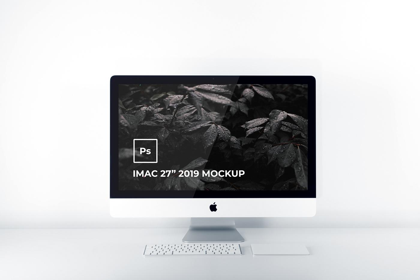 "photoshop mockup free mockup  imac 2019 modern mockup imac 27"" mockup minimalist mockup"