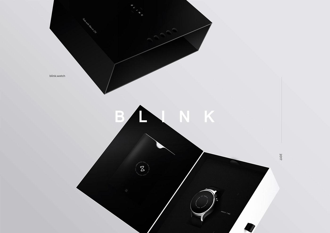 Packaging branding  blink smartwatch Experience watch adobeawards witworks