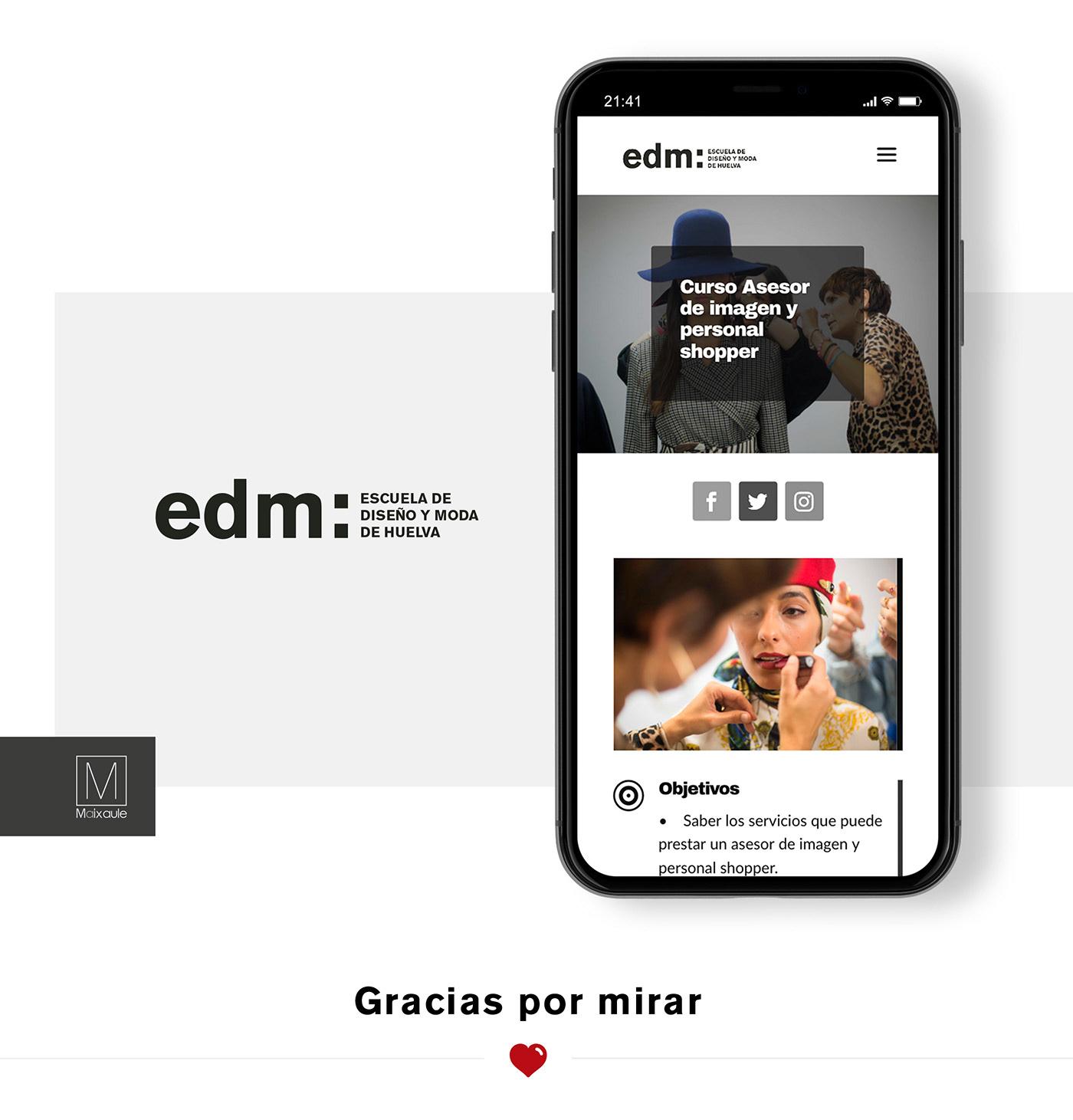 Website Web Wendesign diseñoweb Responsive minimal fashionweb fashionschool