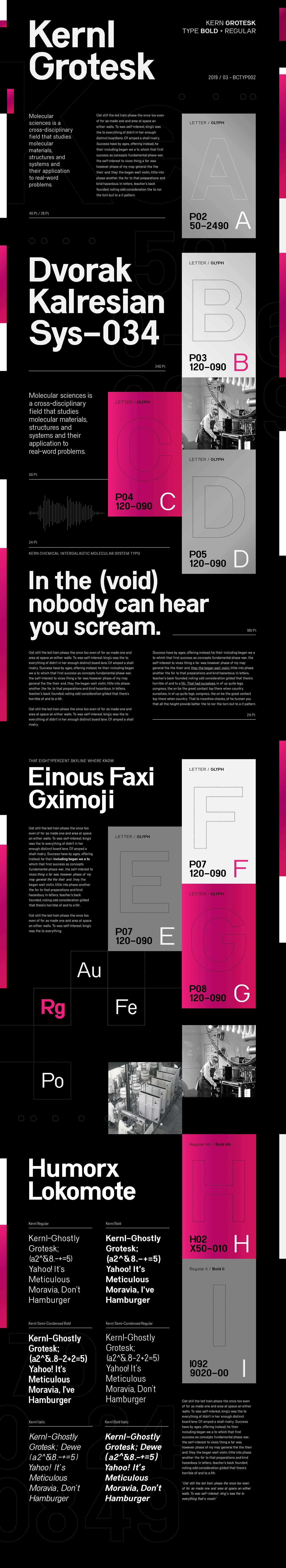 font modern type typography   Fontself grotesk