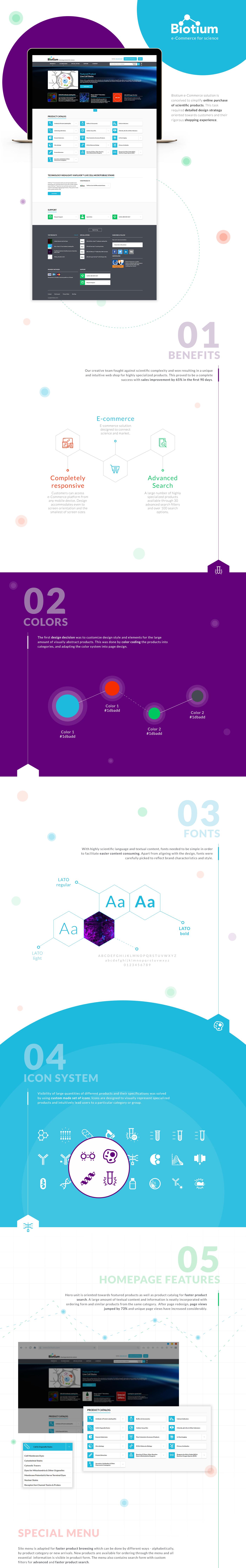 Web Design  icons science ux/ui webshop identity color Web Ecommerce usa