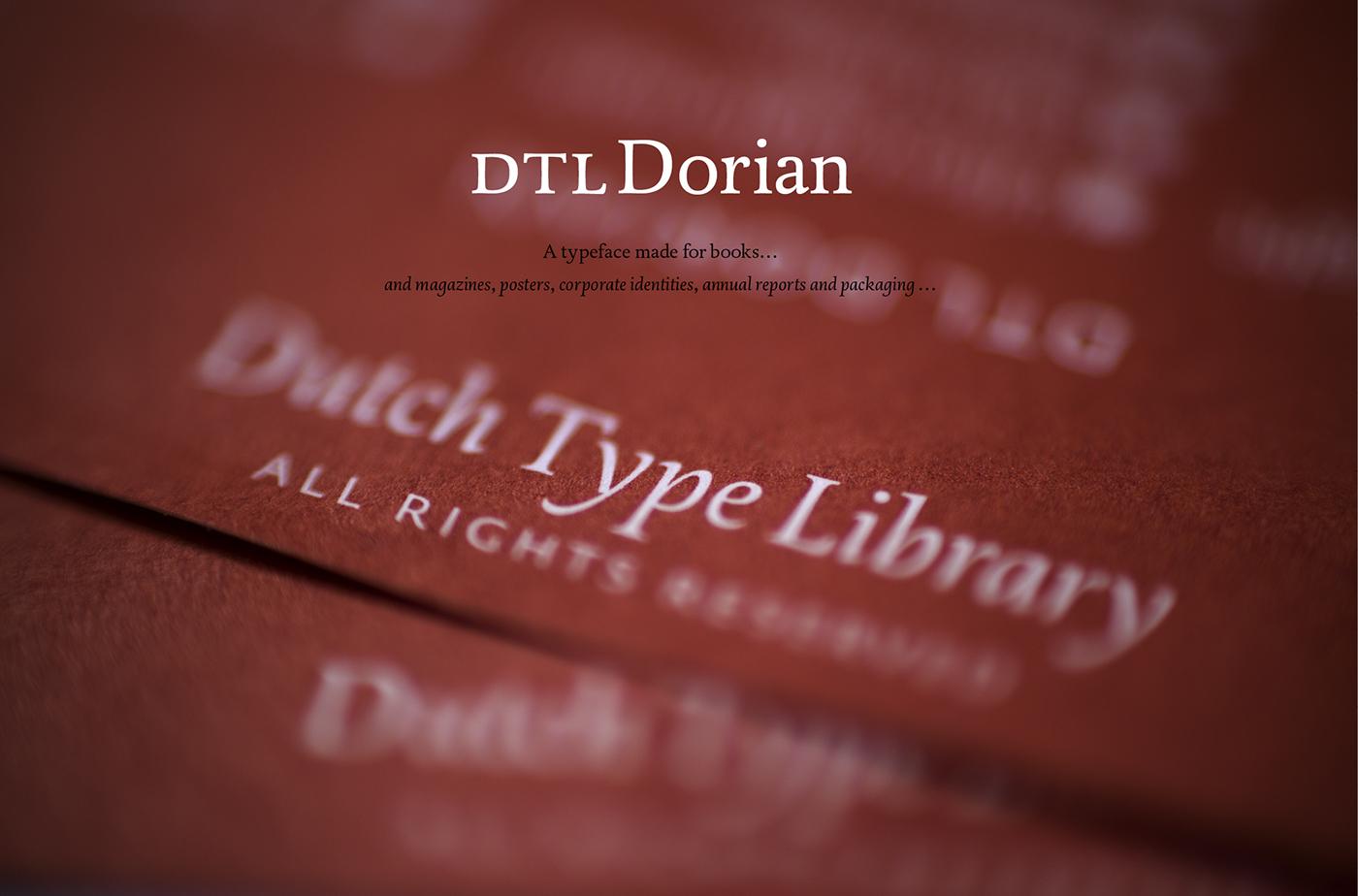 Dorian typeface design
