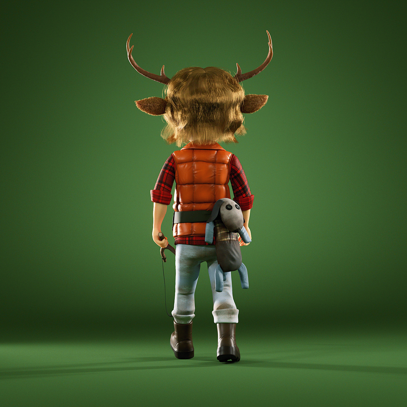 Character digital 3d forest gus Nature Netflix sweet tooth