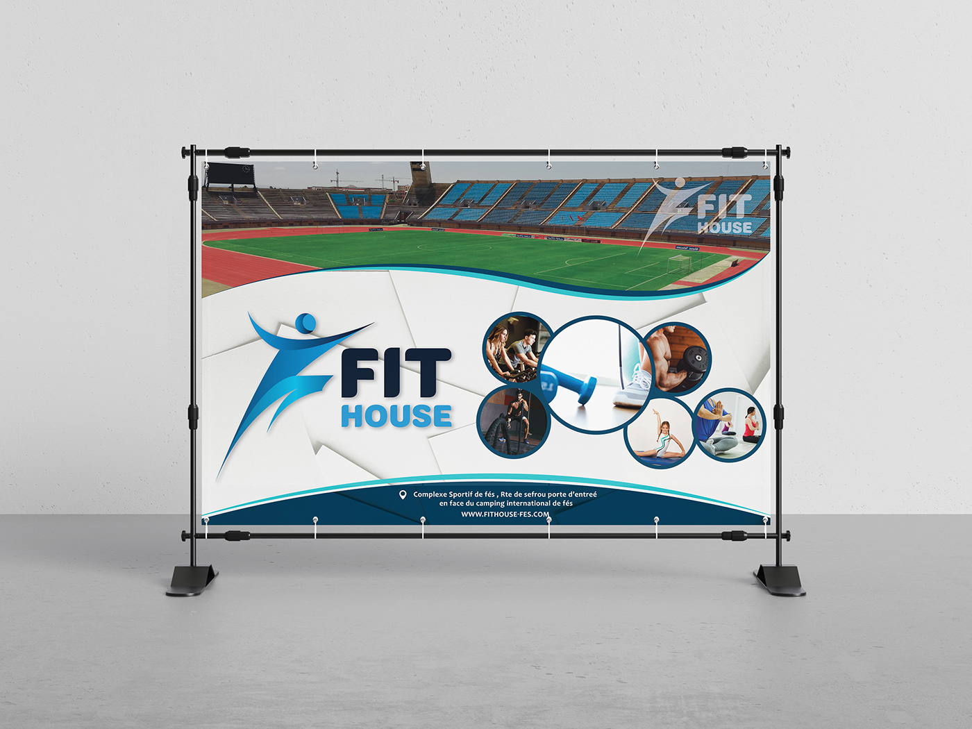 banner frame Stand sport fitness Sports Hall