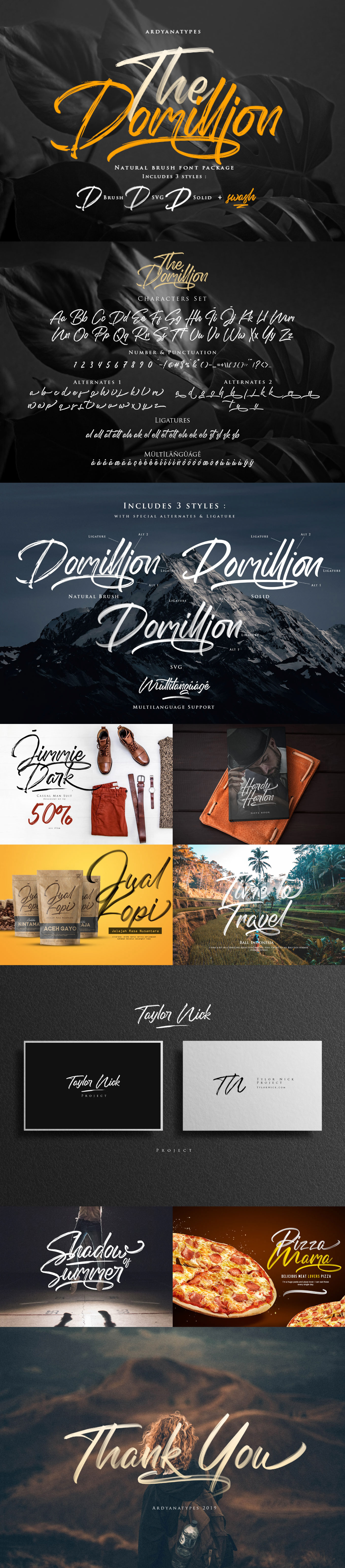 Шрифт – The Domillion