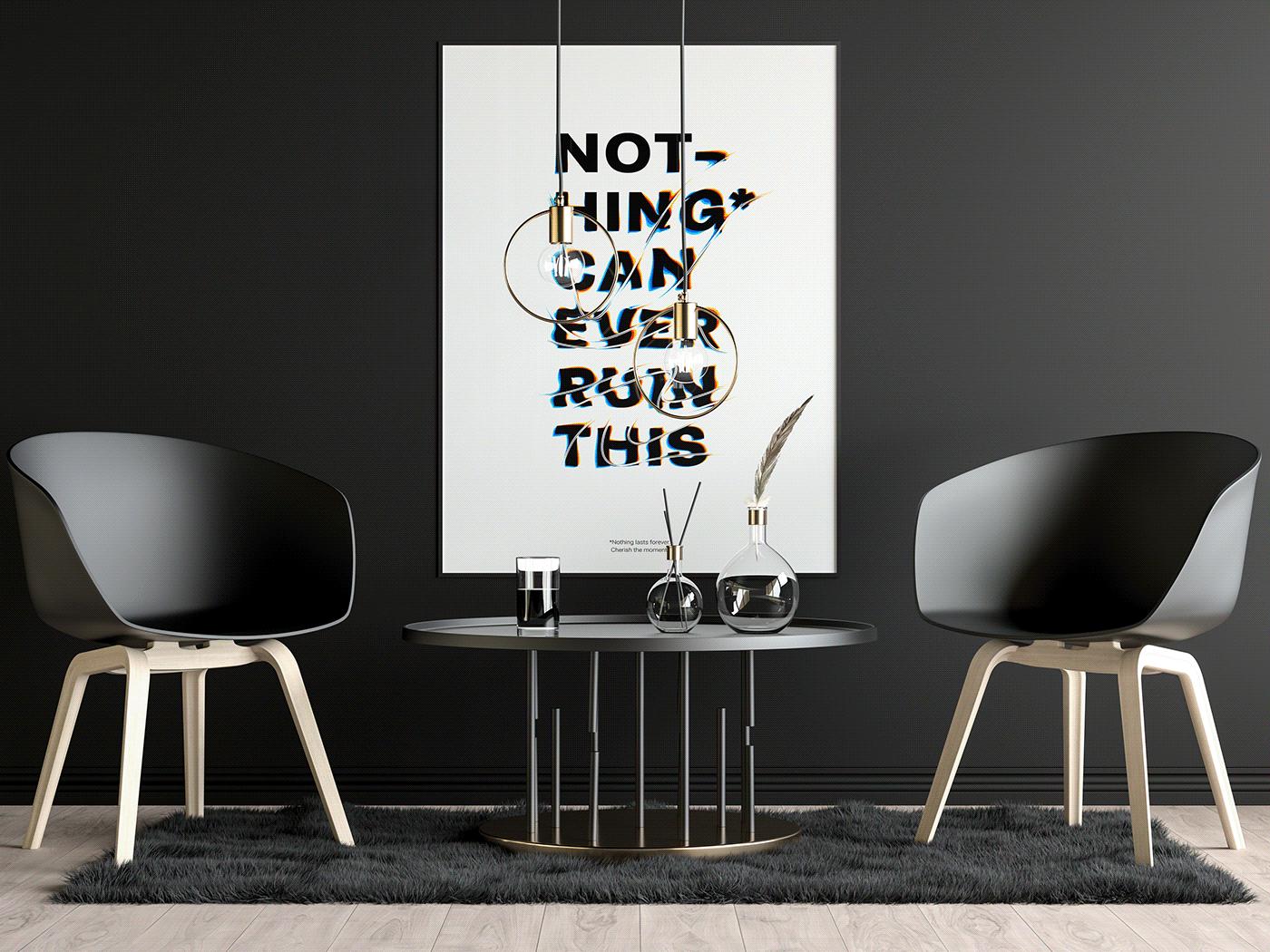 typography   poster Poster Design graphics design graphics Glitch