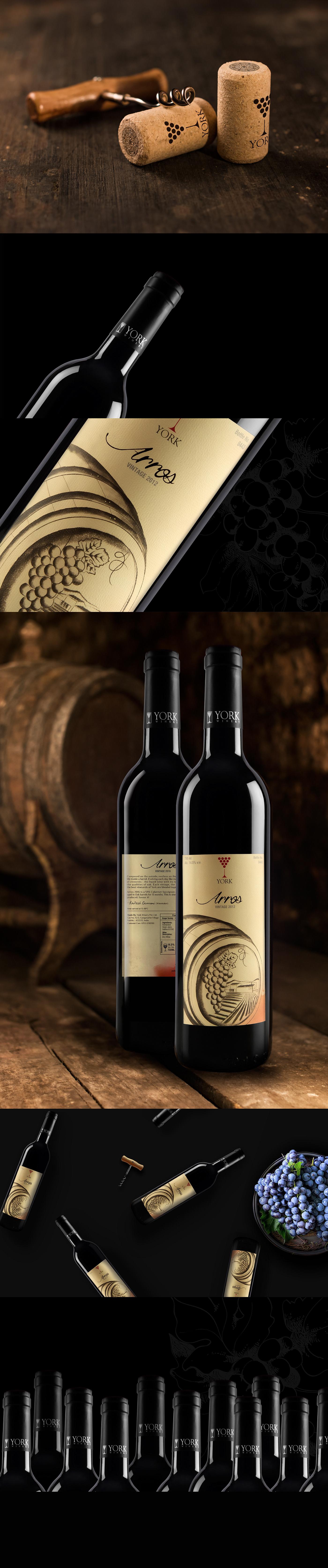 wine Wine label Design york winery Red wine premium wine label design Startup Farms