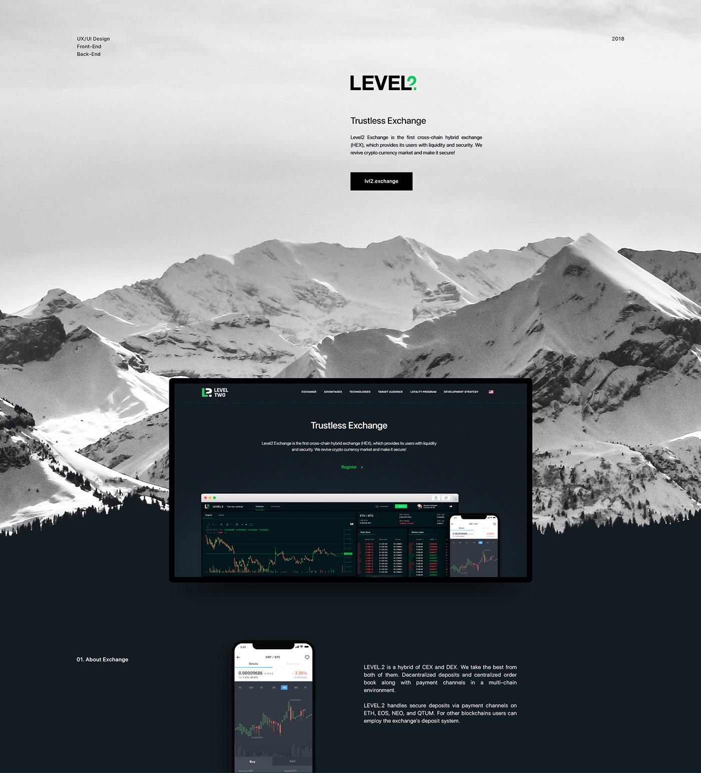 crypto ux/ui design exchange Website interaction landing page LP landing Webdesign