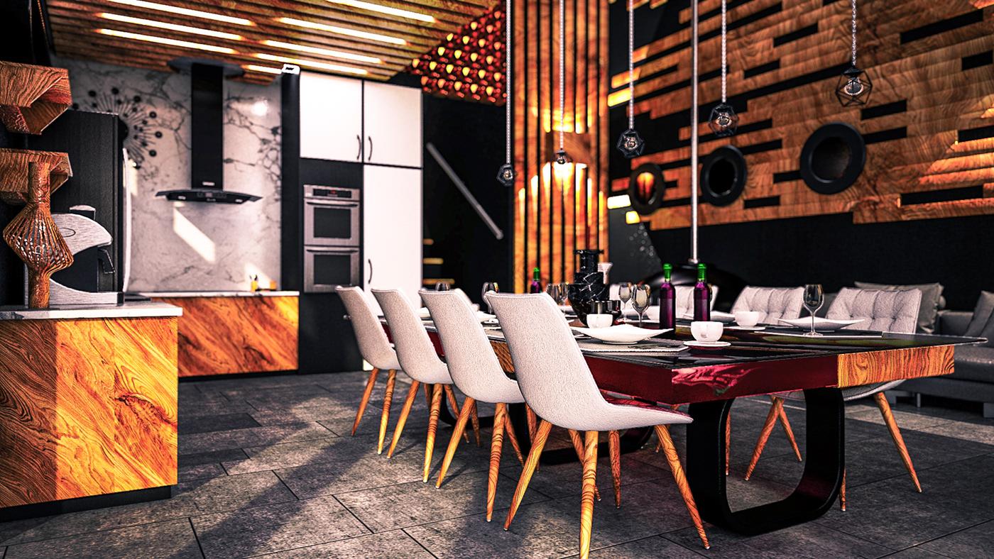3D architecture archviz cinema 4d interior design  photoshop Render VentaHQ visualization vray