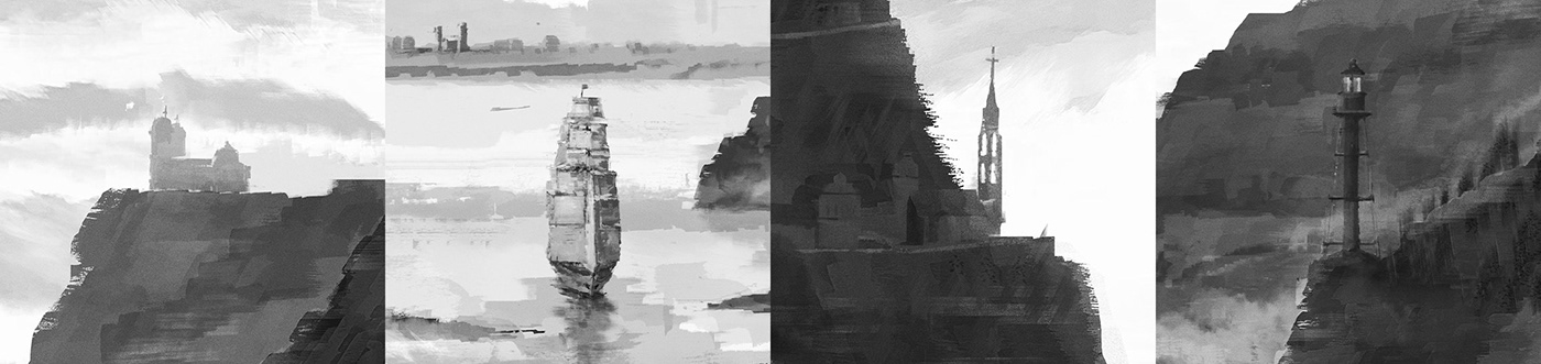 art Classic Digital Art  franko schiermeyer maretim painting   sea ship