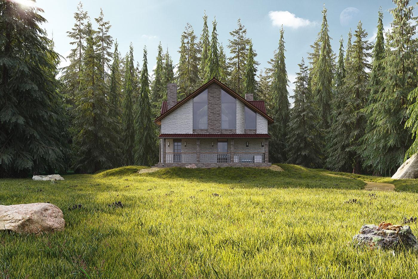 Картинка домик лесника