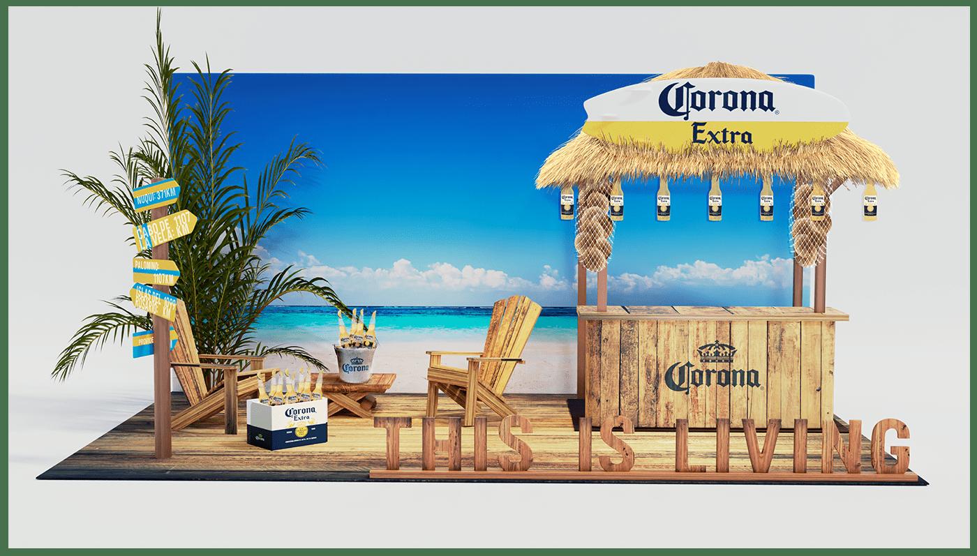 3dmodeling blender corona beer Draftline exhibición Render