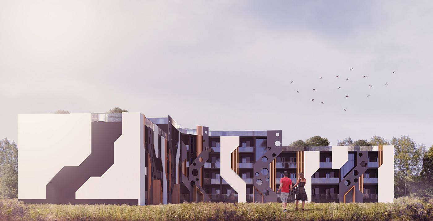 architecture design exterior student project visualization