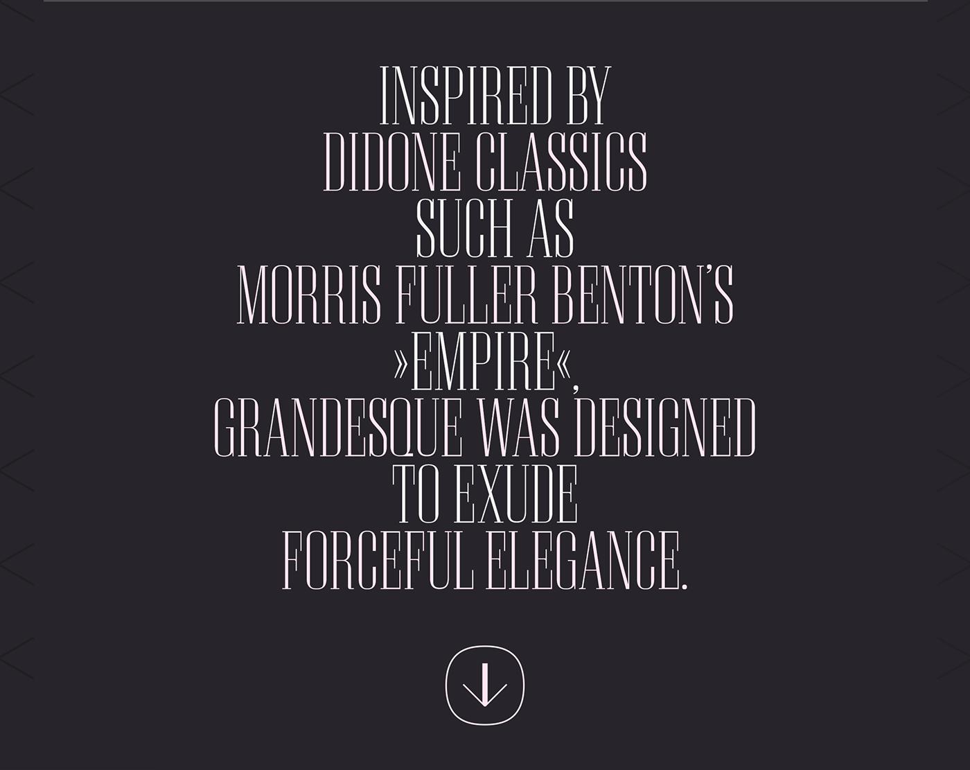 Grandesque type design font Typeface berlin german Mockup bodoni Didone Hrankov Julian Hrankov editorial magazine Headline