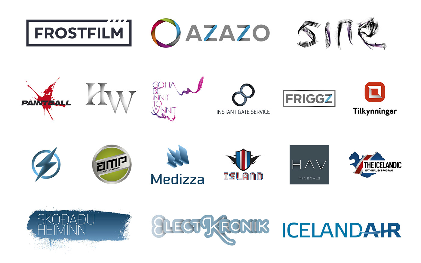 logos marks typography   branding  ID sigvicious Siggeir iceland
