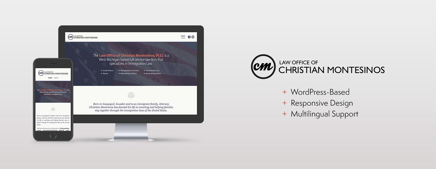 Web Design  web development  wordpress Law Office law firm attorney lawyer legal Immigration