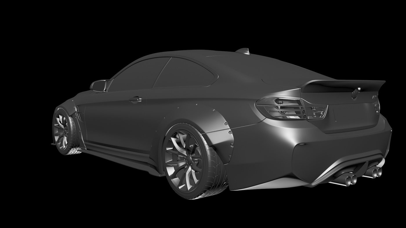 BMW M4 LIBERTY WALK   CGI on Behance