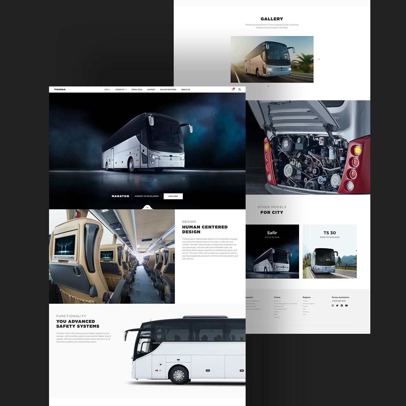 corporate bus automotive   clean efabrika award UI ux Website