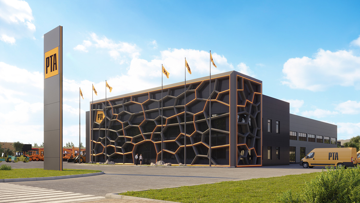 3D architecture granum Hub Logopark modeling thegranum visualization