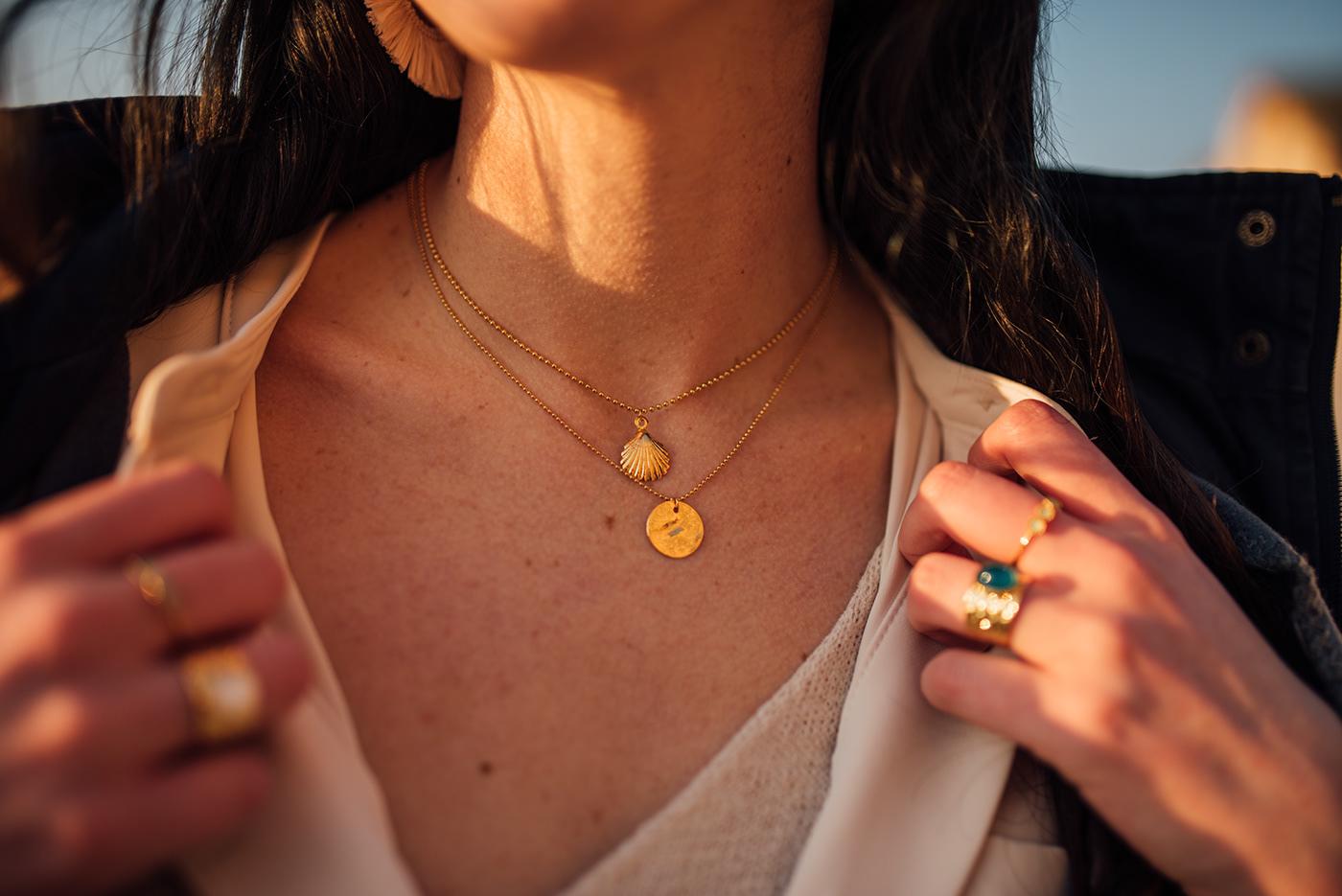 Photography  jewelry Normandy etretat drone jewels model photoshoot Ocean shore