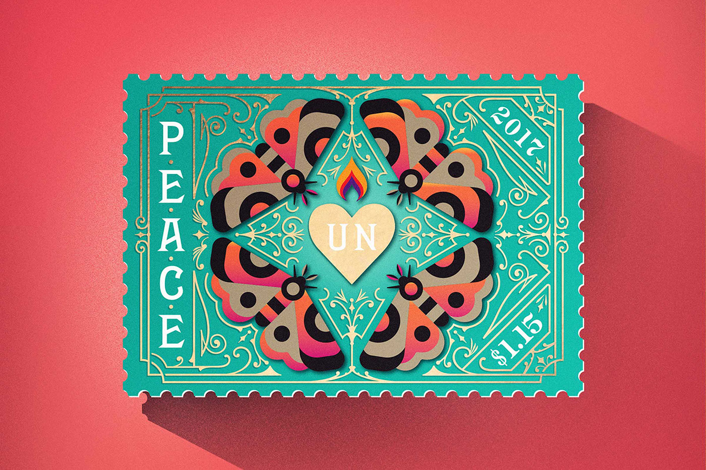 United Nations International Peace Stamps On Behance