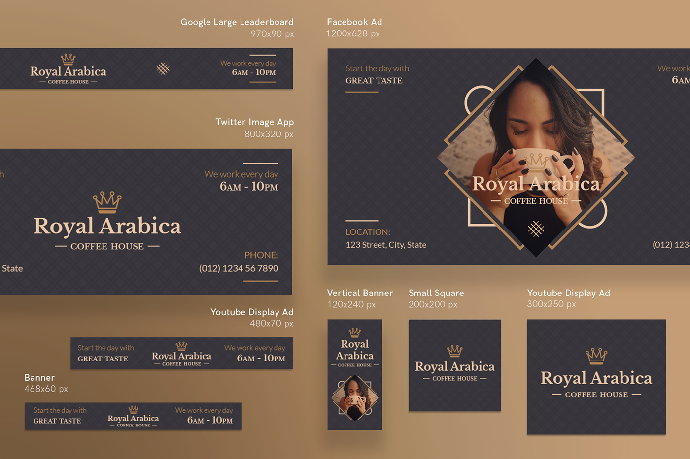 Coffeehouse Modern and Creative Design Templates on Behance