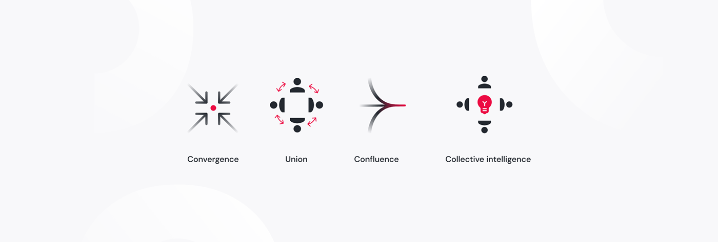 Le concept du logo Konvergo.