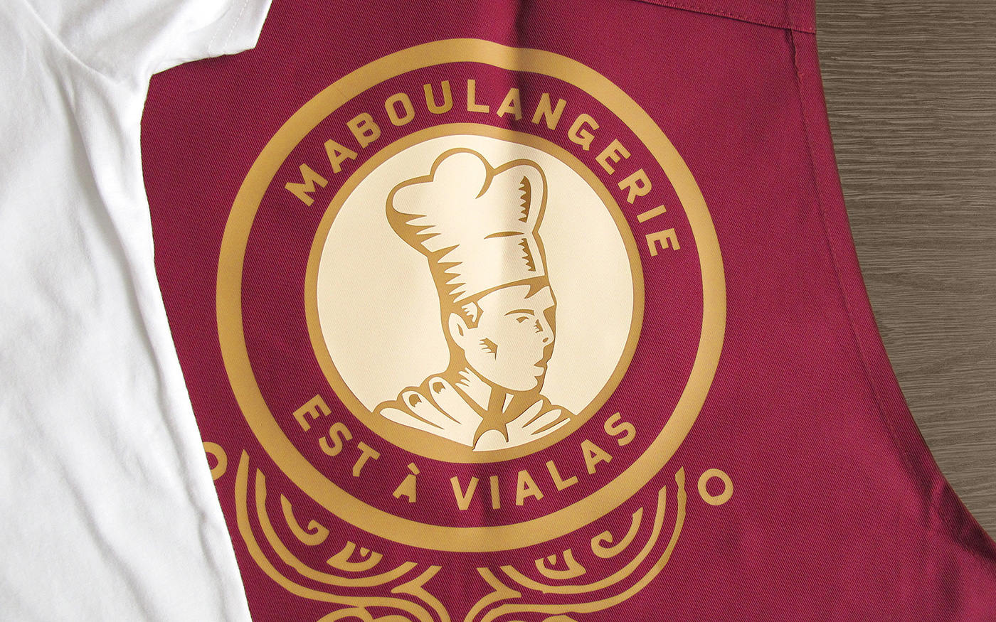 bakery poster t-shirt apron logo map