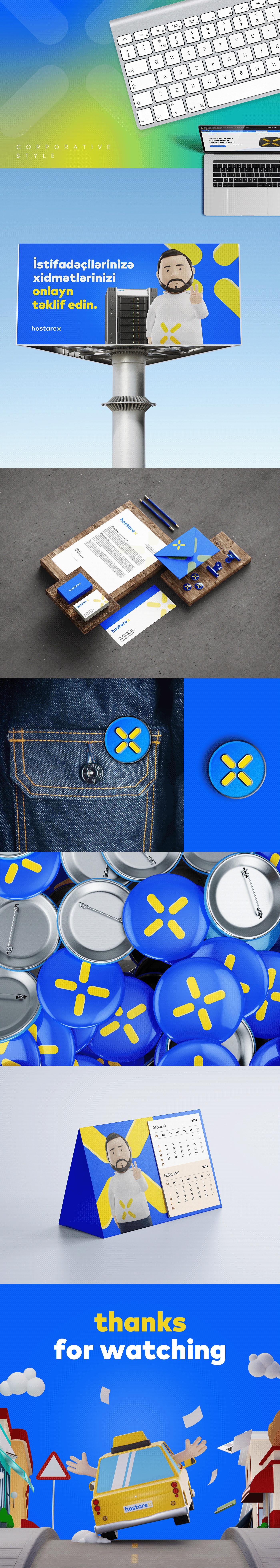 adobe illustrator baku creative projects brand branding  corporative design design graphic hostarex logo X logo