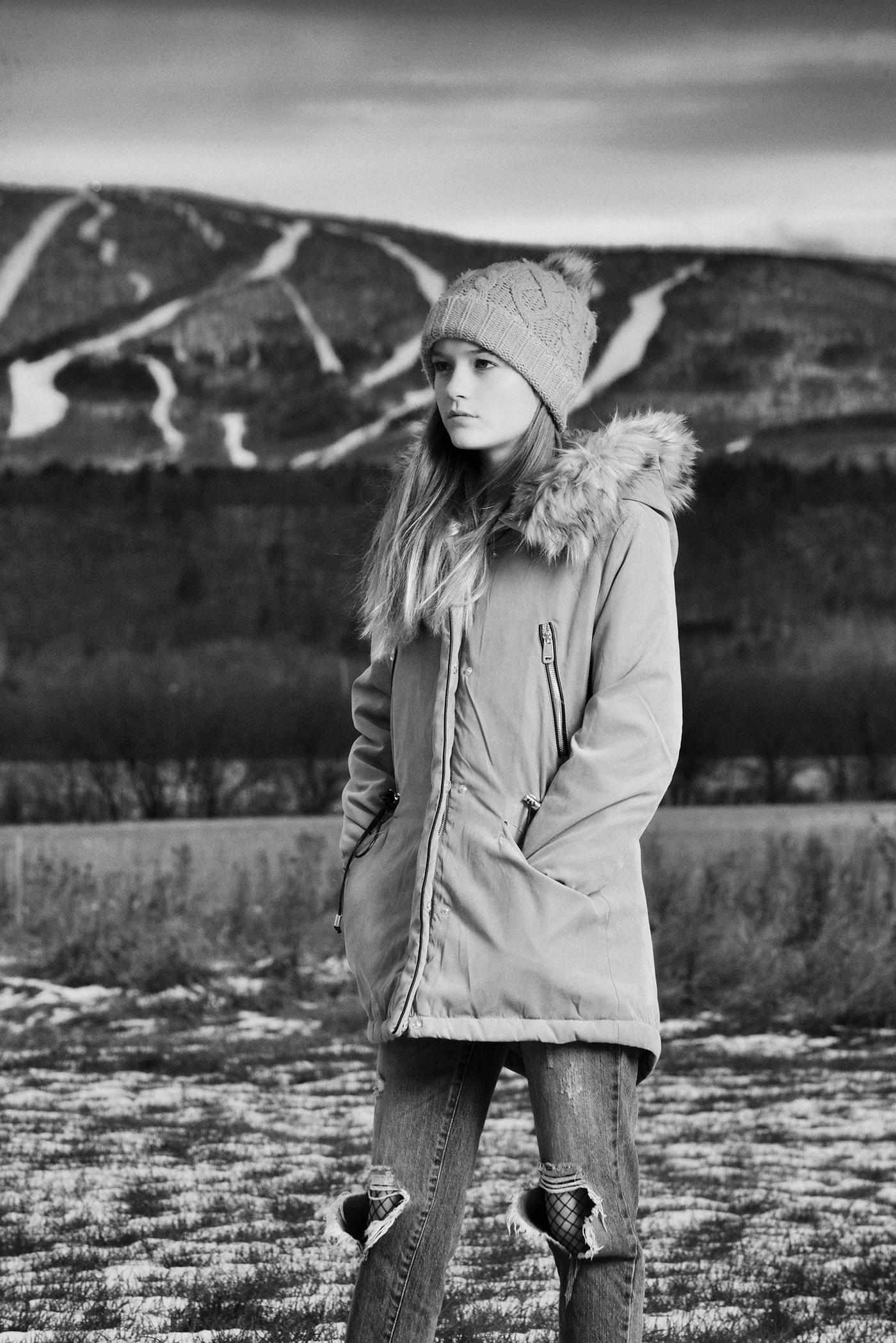 Quebec Nikon portrait winter Fall cold teen