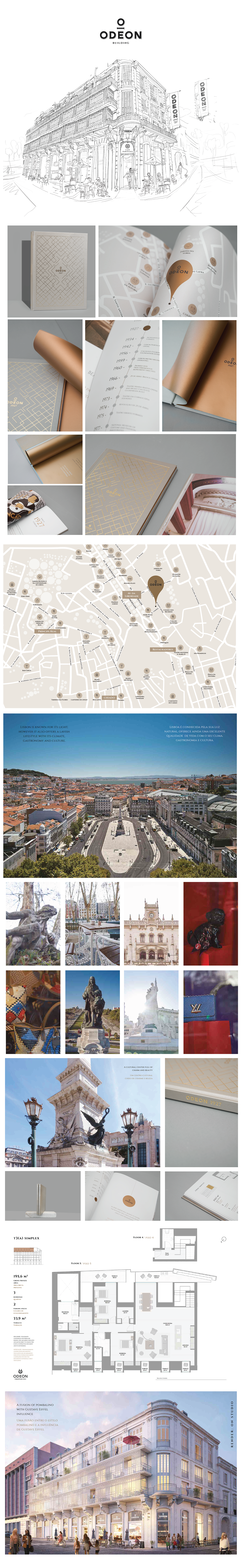 apartments luxury apartments architecture 3D renders branding  Lisbon Portugal real estate