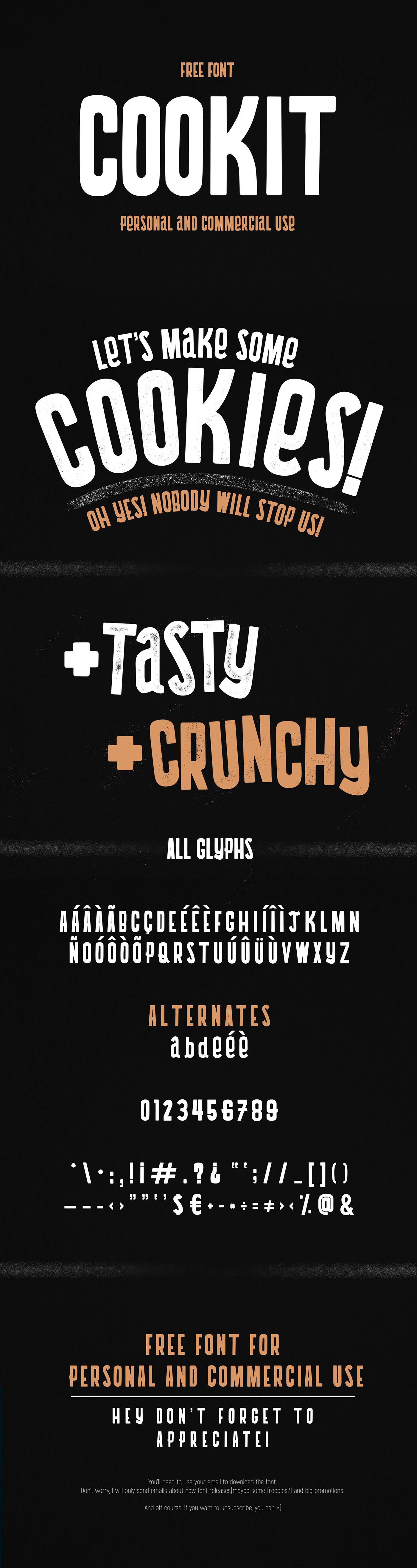 free font Display Fun kids child allcaps Food  typography   type design
