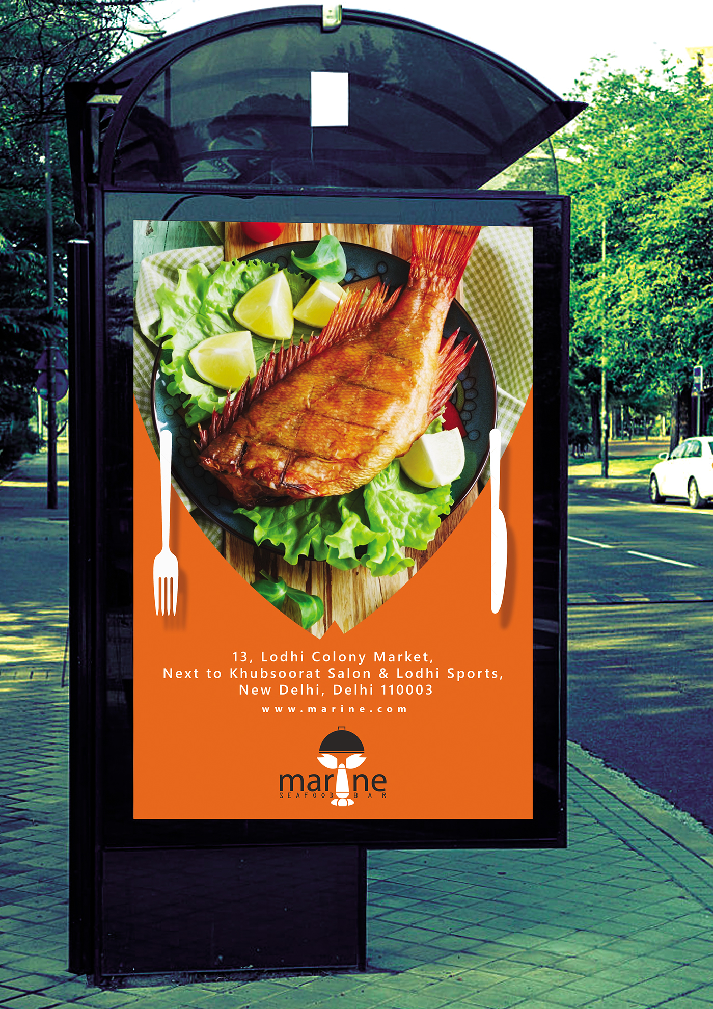 Campaign on seafood restaurant and bar behance