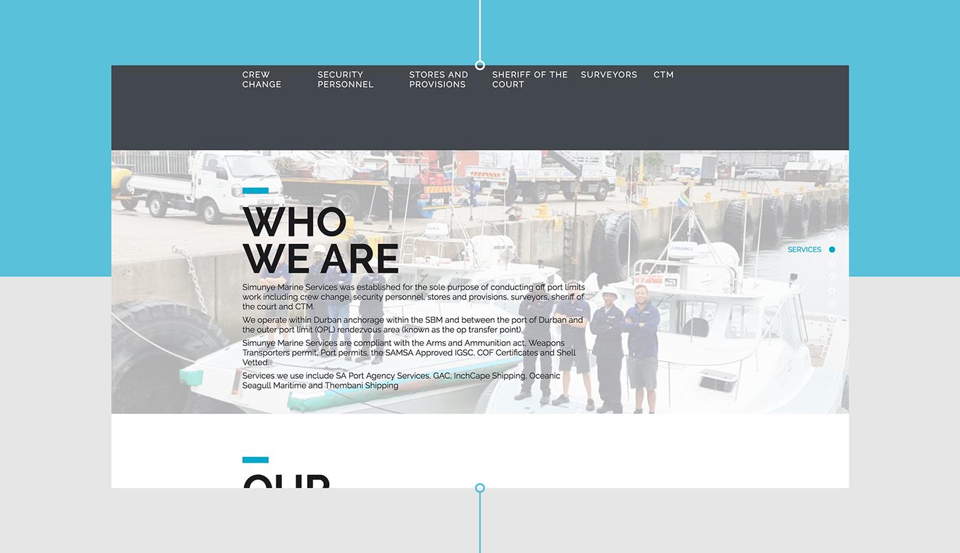 fresh modern interactive Website Infinity Scroll minimalistic Web design Dynamic marine
