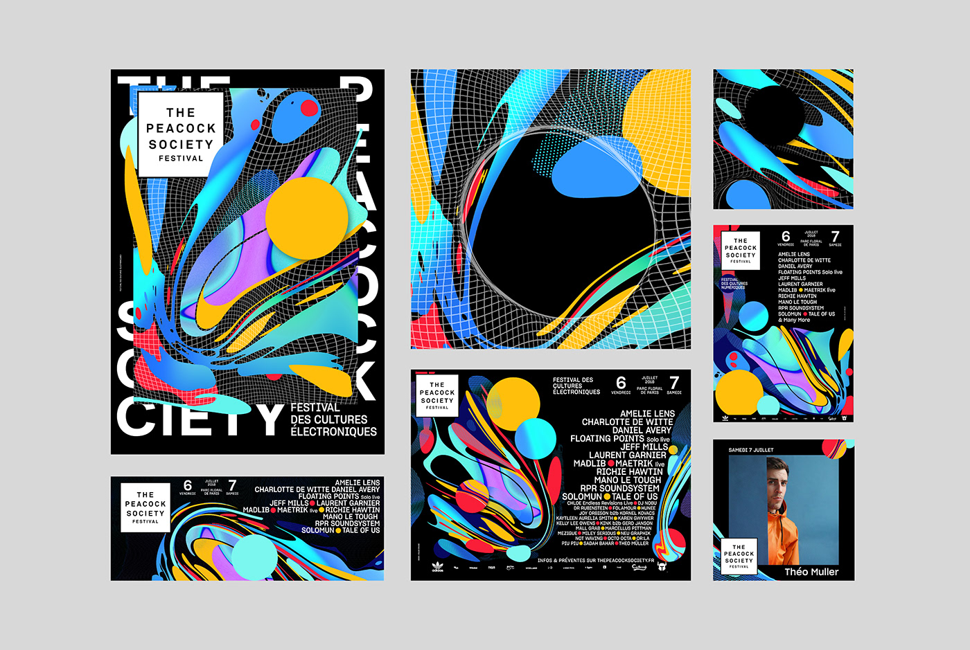 poster Streetposter Urban colorful gradient Exprimental moire pattern festival music