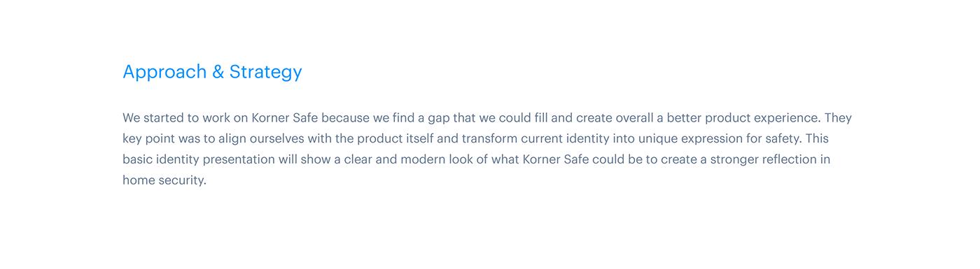 Korner home security logo wordmark lock safe IoT UI ux guidelines app Icon