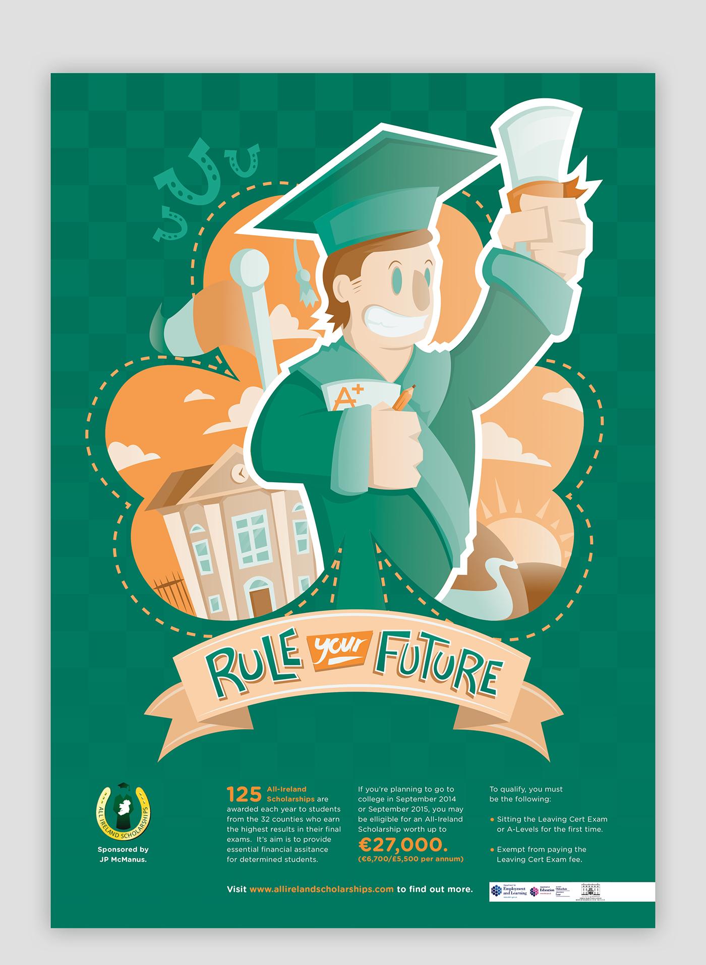 All Ireland Scholarship   Poster Design on Behance