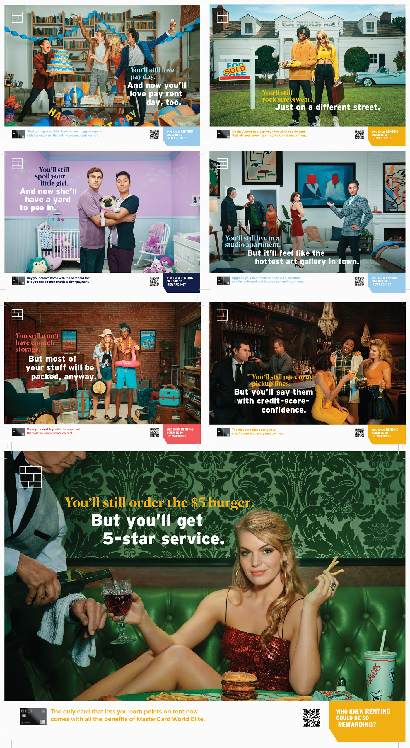 Advertising  banking campaign color story commercial dog fitech gay modern stylized