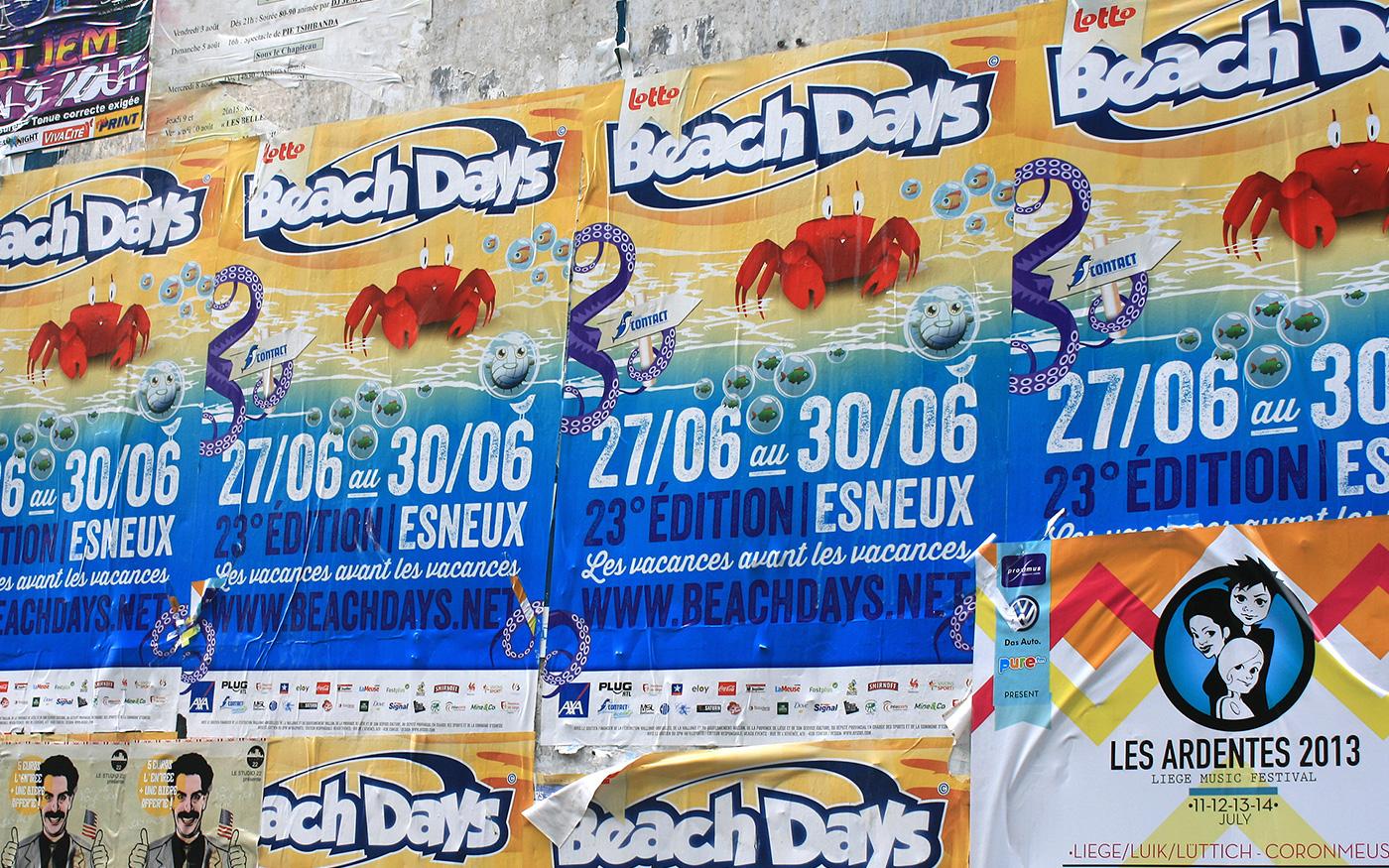 beach poster flyer Character