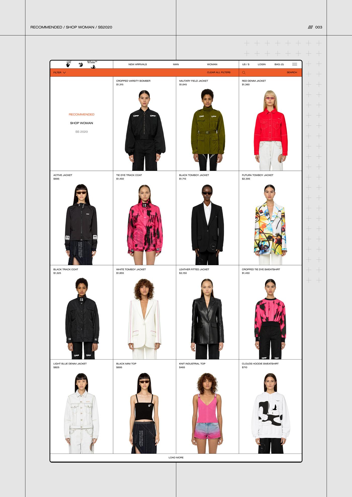 animation  design e-commerce grid shop store typography   ux/ui Web Website
