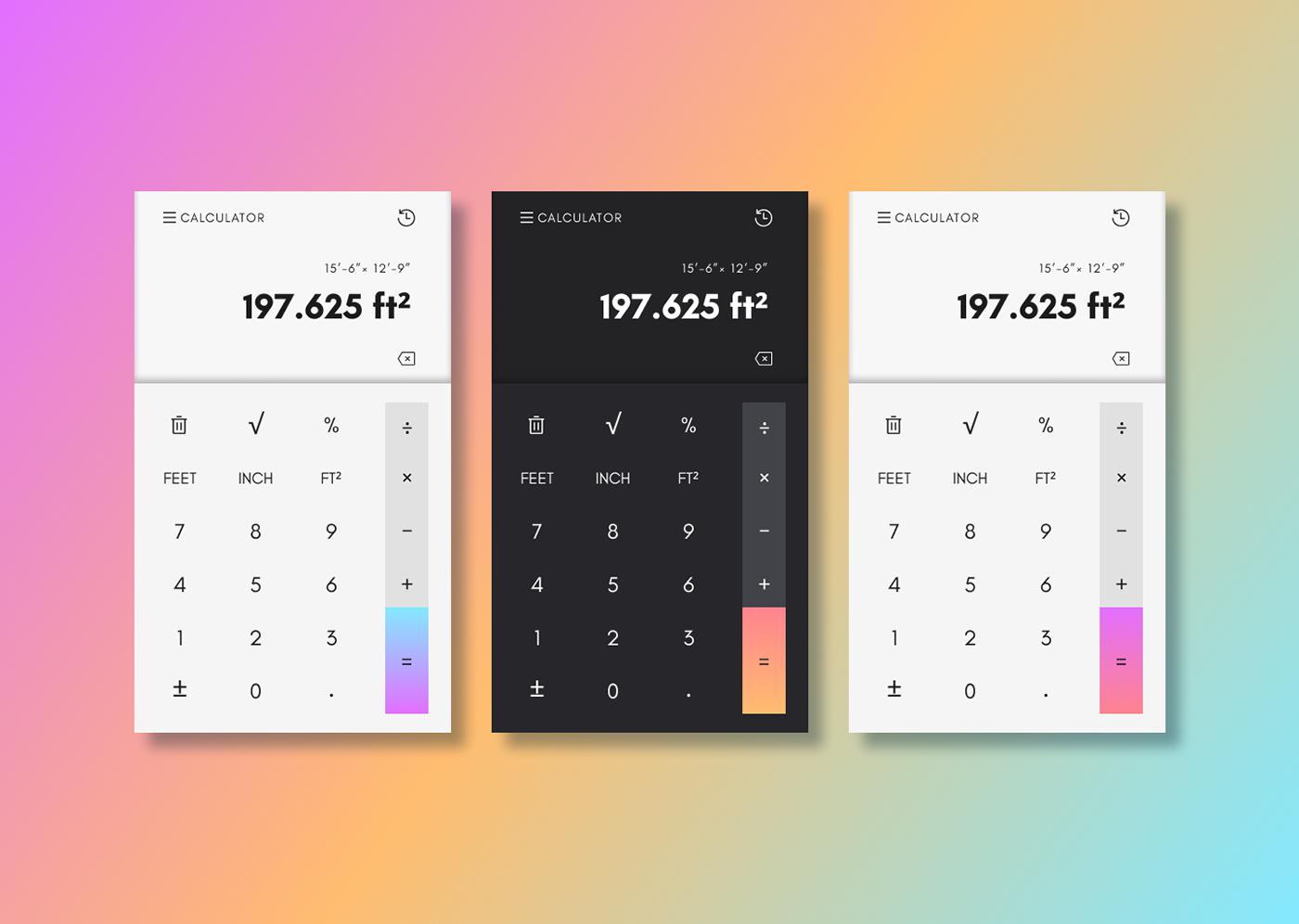 app calculator daily ui DailyUI Figma Interface mobile UI UI/UX ux