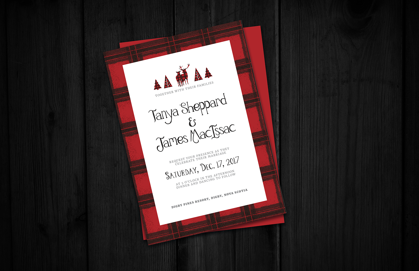 Woodland Red Wedding Invitations on Behance