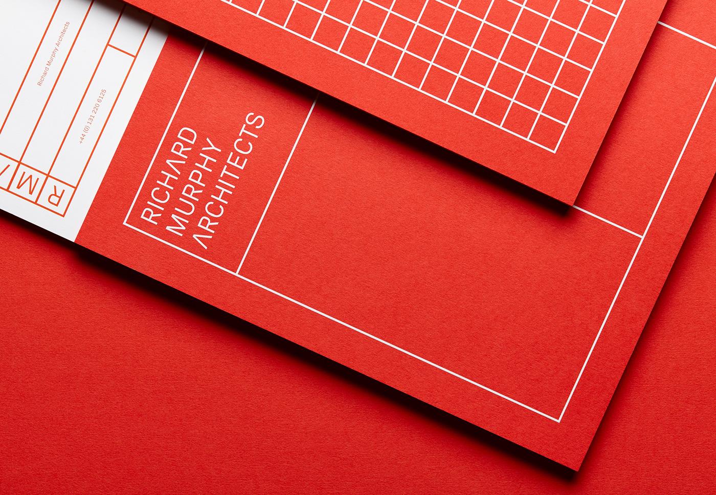identity architecture branding  type typography   print red brand architect logo