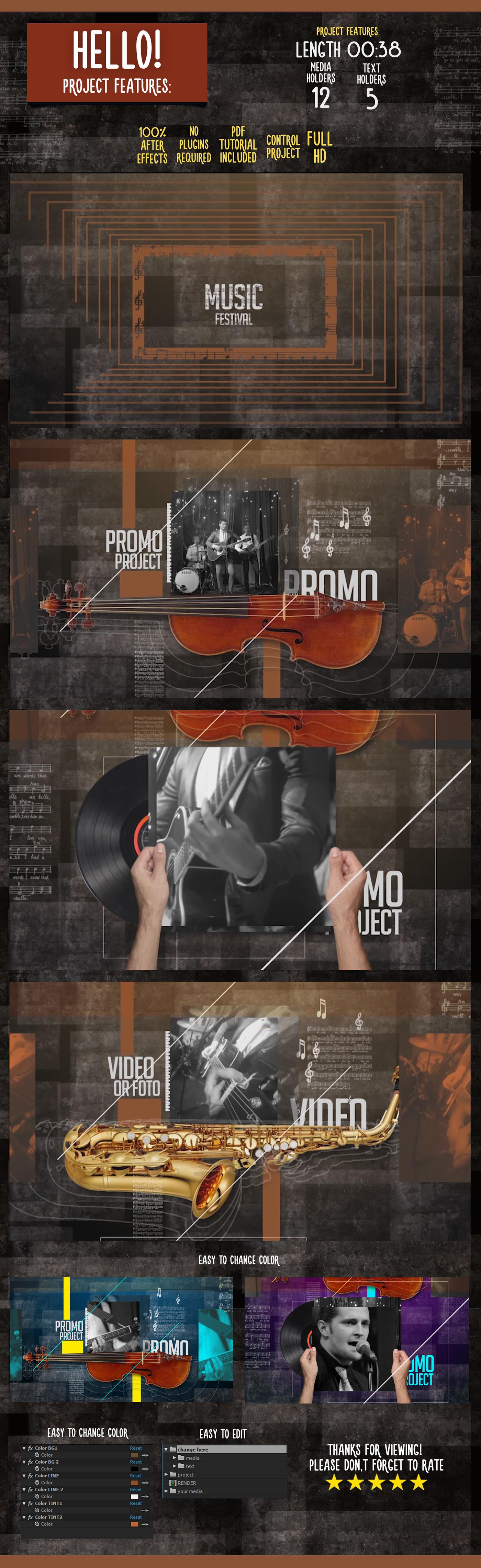 Music Fest Promo (Commercials)