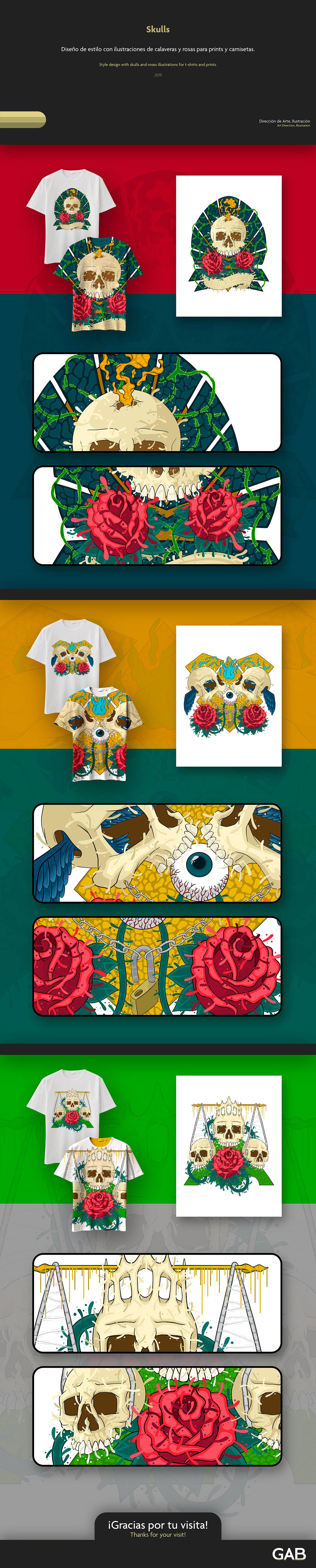 birds Calaveras chains eye Rosas rose Roses skull skulls
