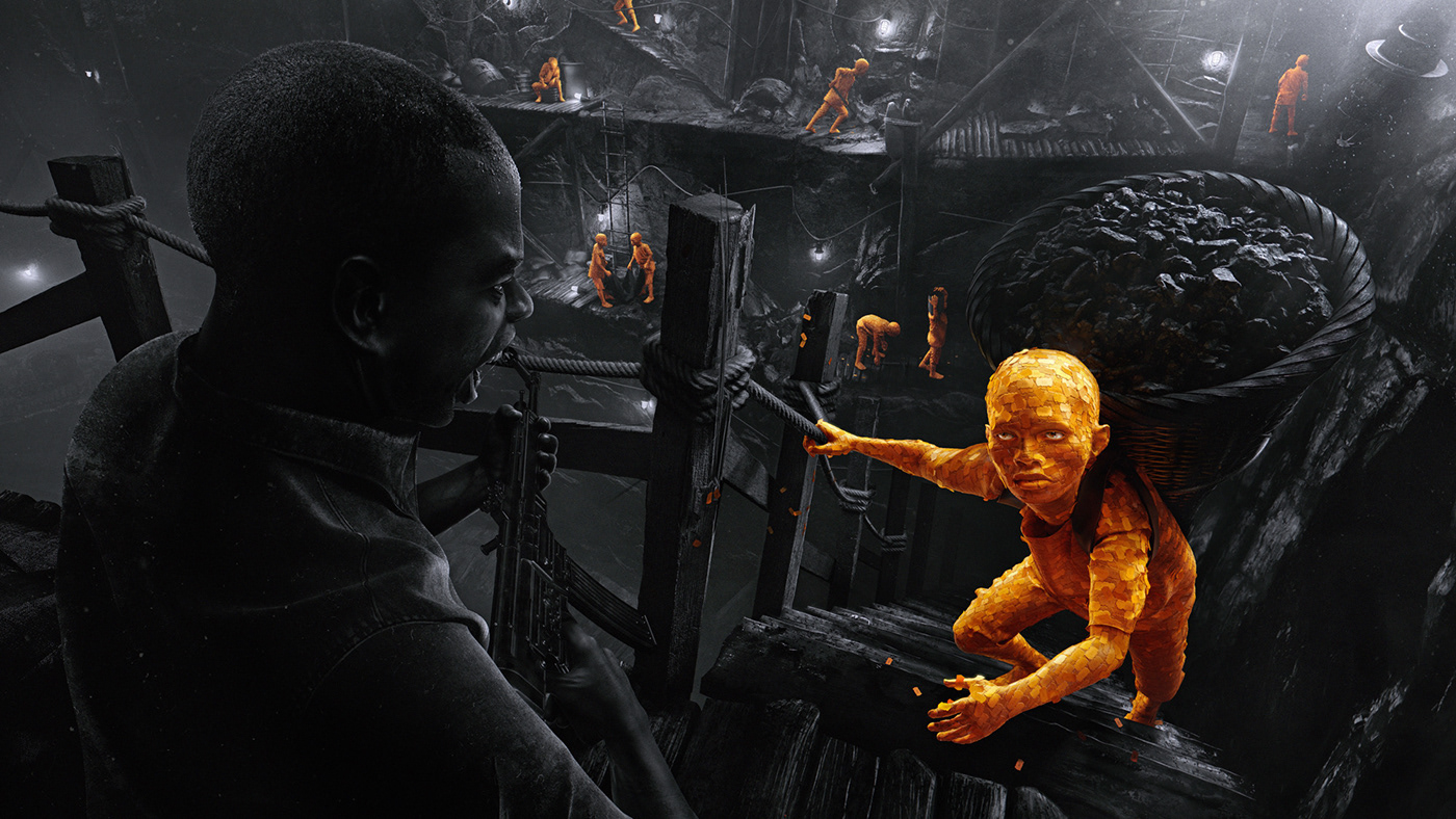 slavery modern price art campaign sweatshop mine digitalart digital